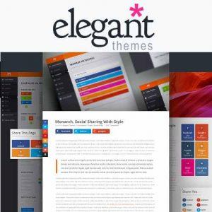 Elegant Themes Monarch Social Media Sharing
