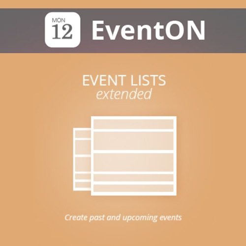 EventOn Event Lists Ext