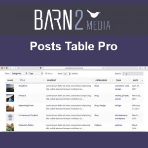 Posts Table Pro