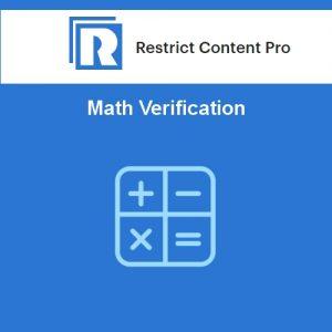 Restrict Content Pro Math Verification