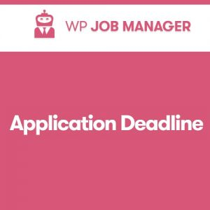 WP Job Manager Application Deadline