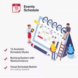 Events Schedule - WordPress Events Calendar Plugin